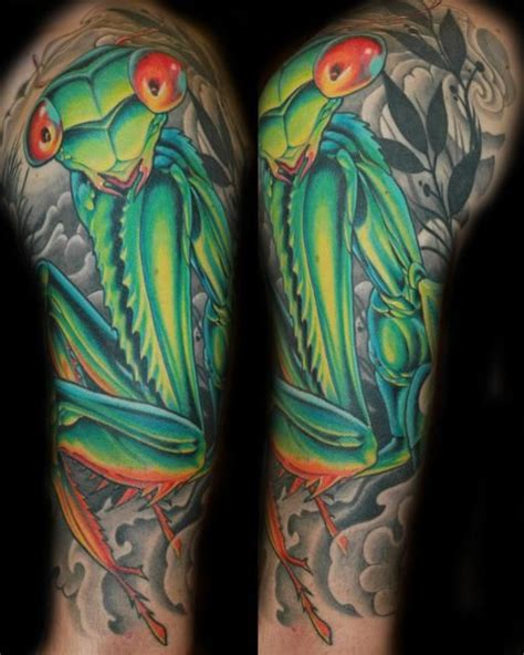 preying mantis tattoo praying mantis inked