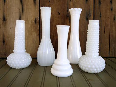 Vintage Milk Glass Vase by Vintage Milk Glass Vases White Flower Bud By