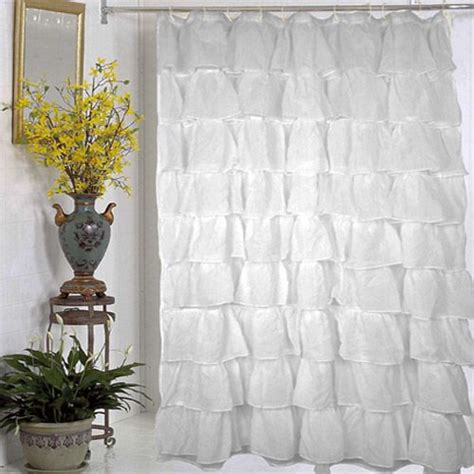 yellow ruffle shower curtain 1000 images about yellow grey bath on pinterest