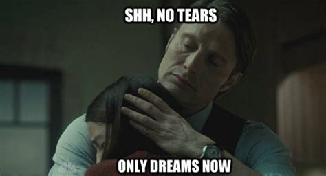 Shh Meme - shh no tears only dreams now mads mikkelsen fan art