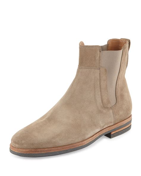 light brown chelsea boots mens boots suede tsaa heel