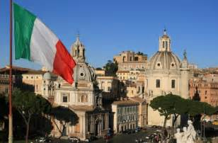 Italian flag in rome italy the italian flag seen in many towns and
