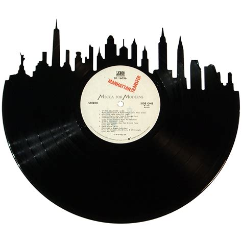 Records New York City New York City Skyline Vinyl Record Records Redone