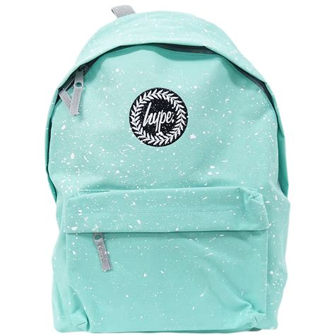 White Backpack Bag just hype backpack speckled mint with white ebay
