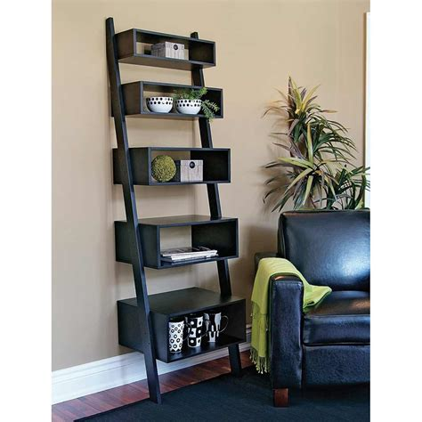 leaning wall shelves for improved interior design