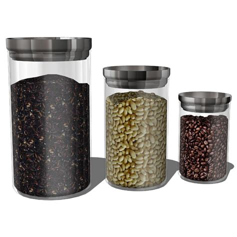modern kitchen canister sets kitchen accesories 02 3d model formfonts 3d models