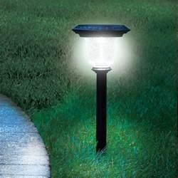 best solar lights the best solar walkway light hammacher schlemmer