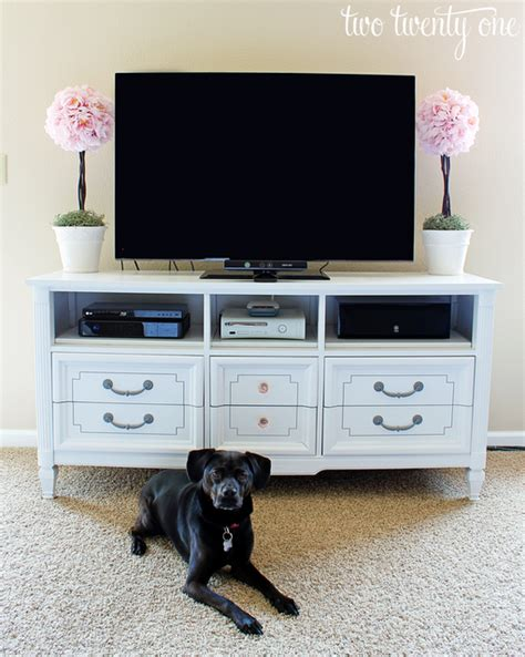 Diy Tv Stand For Bedroom How To Turn A Dresser Into A Tv Stand Diy Two Twenty