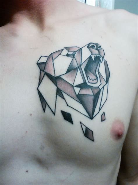 geometric bear tattoo geometric regarding 187 a to z