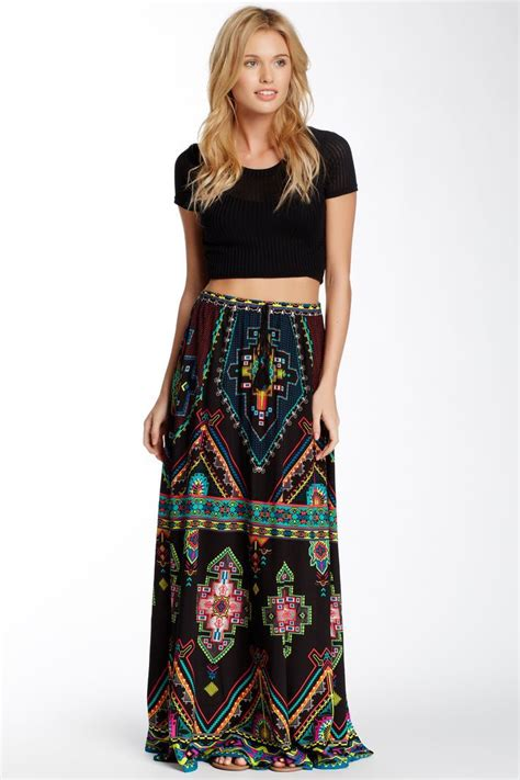 aztec skirt dressed up