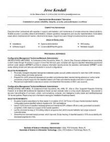Resume It Technician by Exle Configuration Management Technician Resume Sle