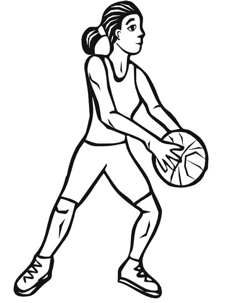 coloring pages of girl basketball players basketball coloring picture girl basketball player 6