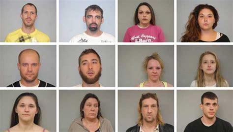 christopher russell middletown ohio large drug sting 12 arrests property seized mercer