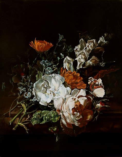 quadri fiamminghi fiori la tavola fiamminga mazzo di fiori su un piano di marmo