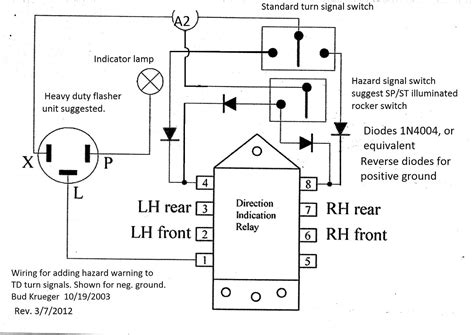 hazard warning flasher wiring diagram warning