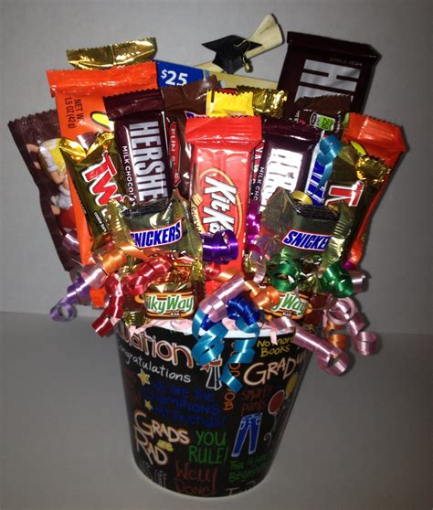 Graduation Gift Card Ideas - graduation candy bouquet with gift card gift ideas pinterest
