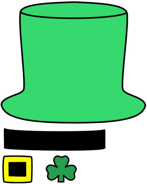 leprechaun hat paper craft color template