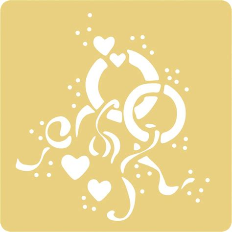 embossing stencils 65x65mm wedding hobby crafts and