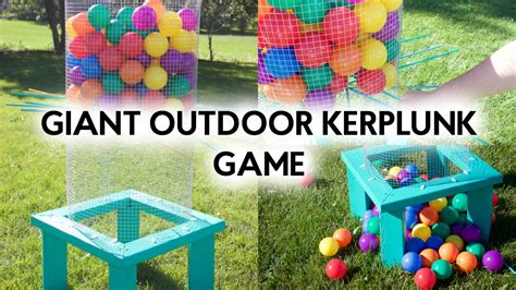 backyard kerplunk game diy giant outdoor kerplunk a little craft in your daya