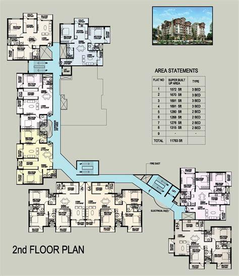 2nd floor floor plan inland eon gandhinagar mangalore