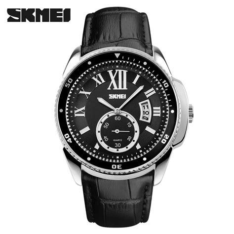 Jam Tangan Pria Cowok Fossil Chrono Silver Leather Cokelat skmei jam tangan analog pria 1135cl silver black