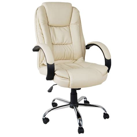 beige office desk chair office computer chair in beige executive pu leather buy