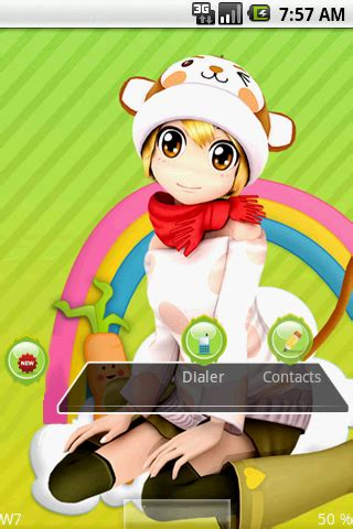 cartoons themes mobile cute cartoon girl android themes android mobile