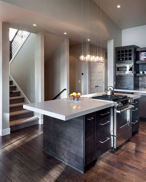 Modern Home In Eugene Oregon By Jordan Iverson Signature Modern Kitchen Lighting