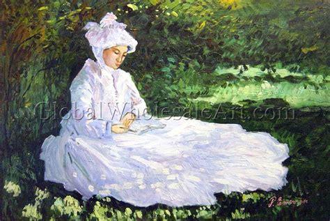 oil paintings global wholesale art claude monet woman reading oil paintings on canvas