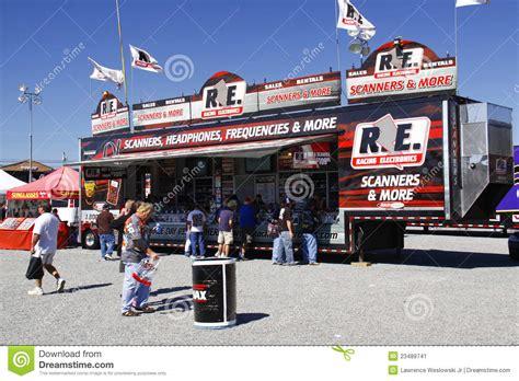 nascar fan shop nascar fans shop at racing electronics editorial photo