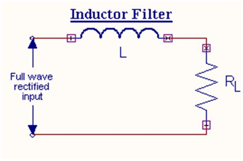 filter circuit using capacitor and inductor wave rectifier