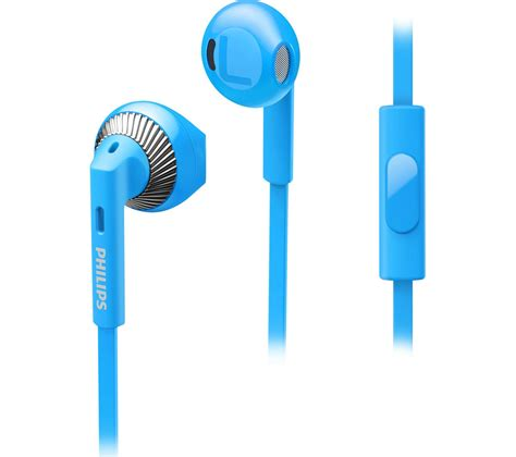Philips Earphone With Mic She 3855 Bl Blue buy philips she3205bl 00 headphones blue free delivery currys