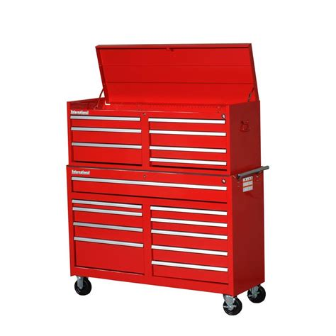 tool chest and rolling cabinet husky 41 in 16 tool chest and rolling tool cabinet