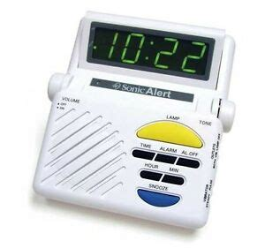 sonic alert sonic boom sb1000 alarm clock w l flasher of hearing deaf