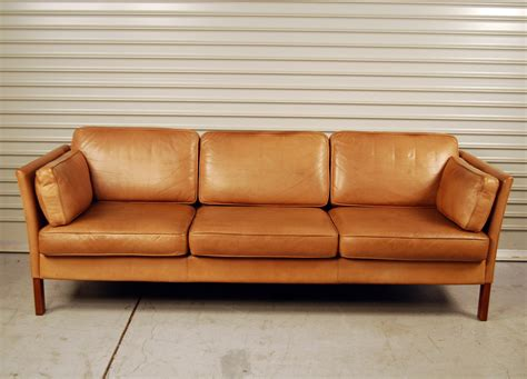 leather sofa tan sold erik jorgensen tan leather sofa 30d024 danish