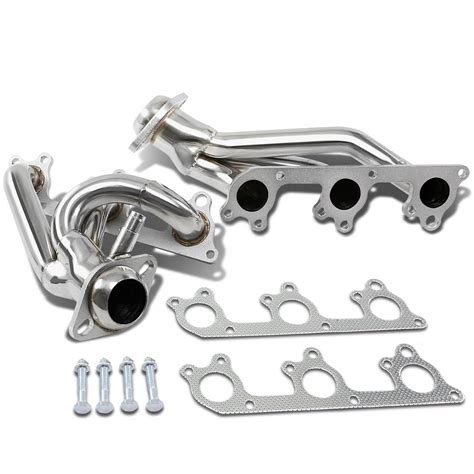 2005 mustang v6 headers 05 09 ford mustang 4 0l v6 stainless steel exhaust