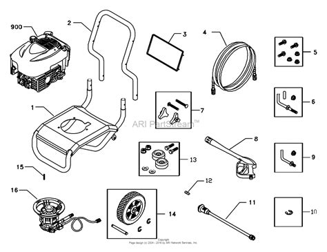 craftsman pressure washer parts diagram briggs and stratton power products 1899 0 580 752300