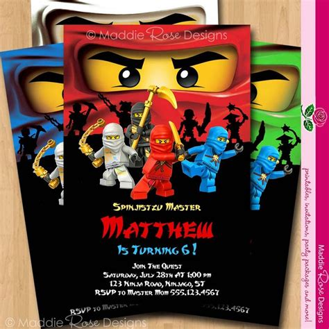 printable ninjago invitations free ninjago invitation lego ninjago laser tag party
