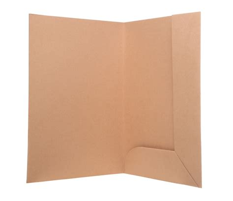 Paper Folder - recycled tri flap brown folders pack of 10 from the green