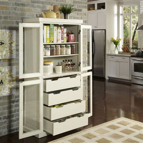 Nantucket Kitchen Pantry by Nantucket Distressed China Pantry Distressed White Or Black Finish Home Styles