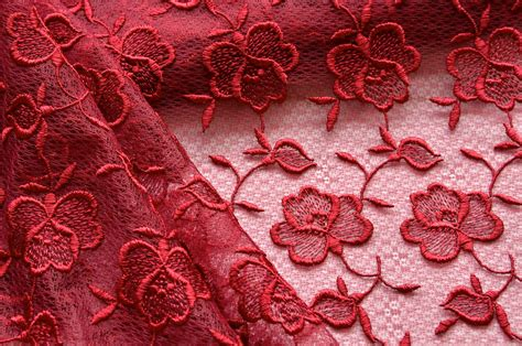 red rose upholstery red floral lace fabric red roses wine red lace dark