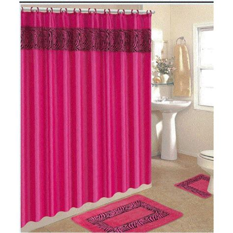 Pink Shower Curtains Pink Shower Curtain Furniture Ideas Deltaangelgroup