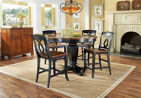 rooms to go california shop for a home black california cottage counter height 5 pc dining room at rooms