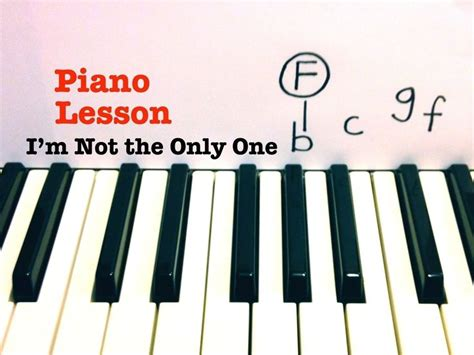 how to play i m not the only one on guitar by sam smith 17 best images about how to play piano on pinterest