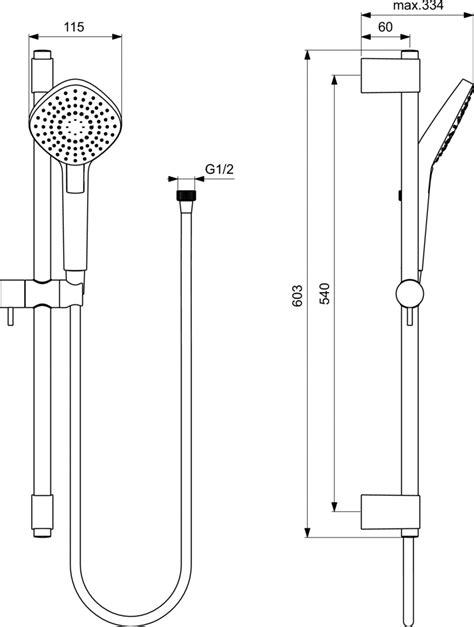asta doccia ideal standard dettagli prodotto b2234 asta doccia evo