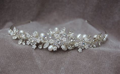 Handmade Bridal Tiaras - rhinestone pearl handmade headband bridal by lyndahats