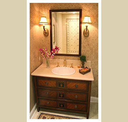 Powder Room D by C B I D Home Decor And Design The Powder Room Small