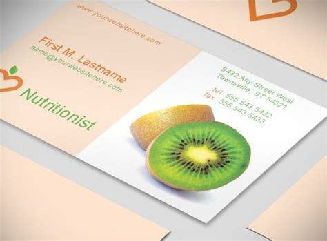 nutritionist business card templates 17 best make me a professional images on