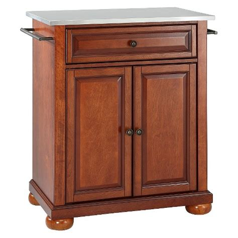alexandria kitchen island alexandria stainless steel top portable kitchen island classic cherry crosley target