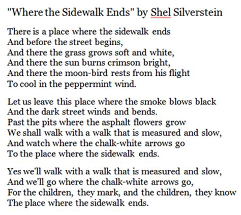 where the sidewalk ends poems and drawings shel where the sidewalk ends shel silverstein poetry
